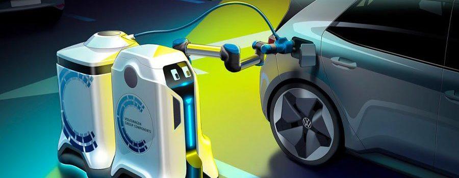 Volkswagen desarrolla un robot para cargar coches eléctricos
