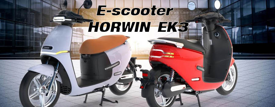 Horwin presenta una E-scooter eléctrica con hasta 200 km de autonomía.